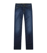 Jacob Cohen Straight Leg Camo Detail Jeans Male Blue