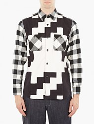 Ganryu Plaid Brushed Cotton Shirt White