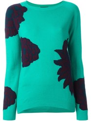 Etro Floral Pattern Pullover Blue