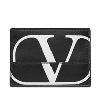 Valentino Constructed V Logo Card Holder Black