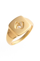 Rachel Zoe 'Prestley' Pinky Ring Gold Crystal