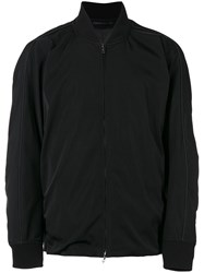 Attachment Loose Fit Bomber Jacket Men Polyester Rayon I Black