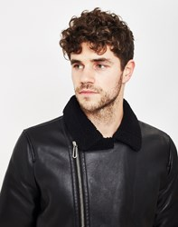 Only And Sons Lanford Faux Leather Jacket Black