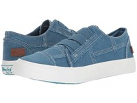 Blowfish Marley Sky Blue Antique Smoked Canvas Flat Shoes