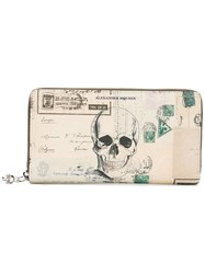 Alexander Mcqueen Letters From India Continental Wallet Nude Neutrals