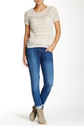 Joie Mid Rise Rolled Skinny Jean Blue