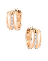 Swarovski Crystal Hoop Earrings Gold