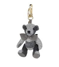 Burberry Shoes And Accessories Thomas Check Bear Charm Female Grey