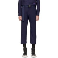 D By D Navy Belted Strap Trousers