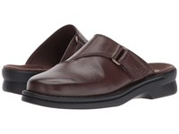 Clarks Patty Nell Dark Brown Leather Clog Shoes