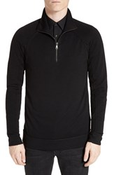 Helmut Lang Men's Wool Quarter Zip Pullover