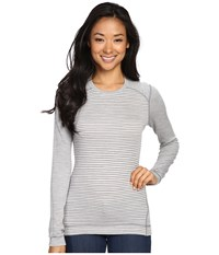 Smartwool Nts Mid 250 Pattern Crew Top Light Gray Heather Natural Women's Long Sleeve Pullover