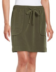 Lord And Taylor Drawstring Skirt Wild Olive