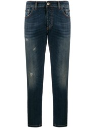Entre Amis Distressed Effect Cropped Jeans 60