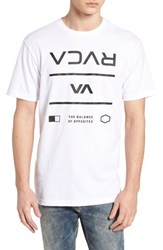 Rvca Building T Shirt White