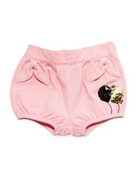Little Marc Jacobs Sequin Balloon Cotton Blend Shorts Pink