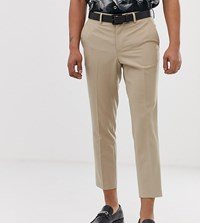 Heart And Dagger Skinny Cropped Stone Trousers
