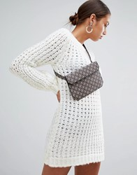 Missguided Chunky Oversized Jumper Dress White