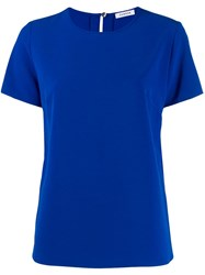 P.A.R.O.S.H. Round Neck Blouse Blue