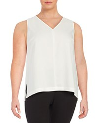 Lord And Taylor Plus Erica V Neck Shell Ivory