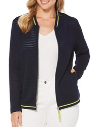 Rafaella Petite Long Sleeve Jacket Navy
