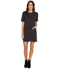 Alternative Apparel Lightweight French Terry Weathered Wash Dress Black Women's Dress