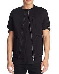 Helmut Lang Sponge Fleece Short Sleeve Jacket Black