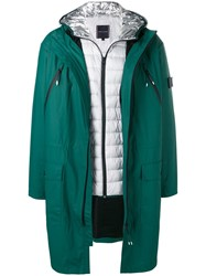 Tommy Hilfiger Sleeve Patch Raincoat Green