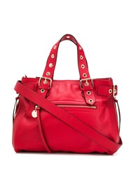 Red Valentino V Eyelet Handle Tote Red