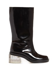 Simone Rocha Perspex Heel Leather Boots Black