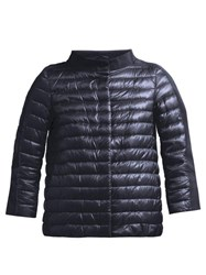 Herno Panelled Quilted Down Jacket Navy