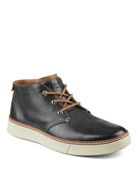 Sperry Clipper Leather Chukka Sneakers Charcoal