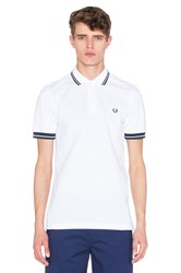 Fred Perry Polka Dot Pique Polo White