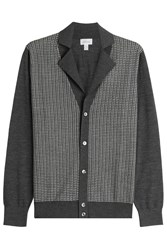 Brioni Cardigan With Silk Wool And Cashmere Grey
