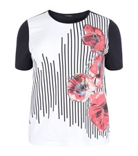 Marina Rinaldi Sequined Poppy Print T Shirt Female Navy