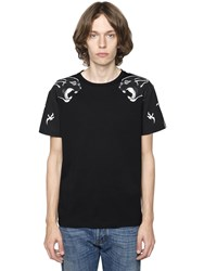 Valentino Panther Printed Cotton Jersey T Shirt