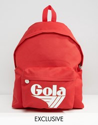 Gola Exclusive Classic Backpack In Red And White Red