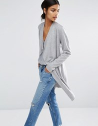 Y.A.S Evita Unlined Throw On Coat Grey