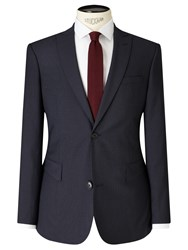 John Lewis Kin By Harrison Micro Check Slim Suit Jacket Navy