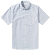 Norse Projects Short Sleeve Theo Oxford Shirt Blue