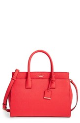 Kate Spade New York Cameron Street Candace Leather Satchel Red Prickly Pear
