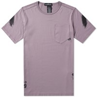 Stone Island Shadow Project Garment Dyed Graphic Tee Purple