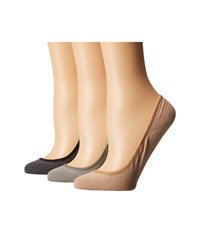 Sperry Marl Padded Sole Liner 3 Pack Beige Women's No Show Socks Shoes