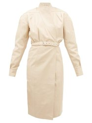 Dodo Bar Or Tony Belted Leather Wrap Dress Ivory