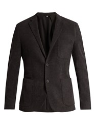 Orlebar Brown Edgar Cotton Terry Towelling Blazer Grey