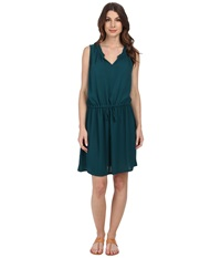 Allen Allen Keyhole Tank Dress Deep Teal Women's Dress Green
