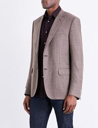 Brioni Twill Weave Regular Fit Wool Jacket Beige