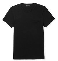Tom Ford Cotton Jersey T Shirt Black