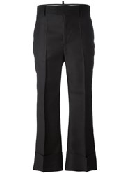 Dsquared2 Cropped Tailored Flare Trousers Black