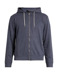 A.P.C. Zip Through Hooded Sweatshirt Blue